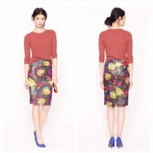 J. Crew Skirts - Collection No 2 pencil skirt in floral brocade