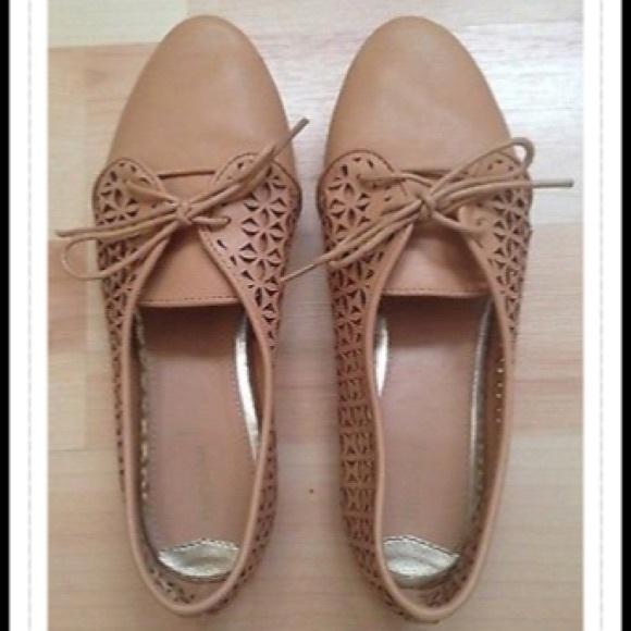 53d6aa9879 Bershka Shoes | Nude Cutout Flats Vegan Size 6 36 | Poshmark