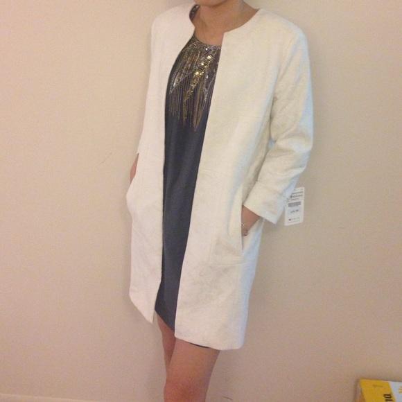 67% off Zara Jackets & Blazers - NWT ZARA WHITE LACE COAT size xs ...