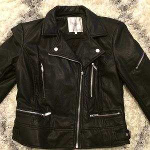 FINAL PRICE DROP⚡️Zara Faux Leather Biker Jacket
