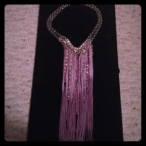 statement necklace NW purple with rhinestones