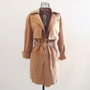 Jackets & Coats - Soft Camel Coat with Tie Waist