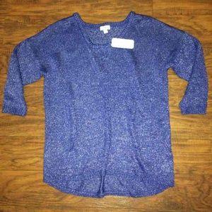 Indigo NWT blue sparkle sweater hi lo S from !! darla's closet on ...