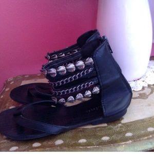 Link Shoes - LINK BLACK BOHEMIAN SANDALS 3 YOUTH NWOT