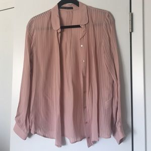 Zara striped button up shirt size Small NWOT