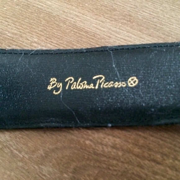 Paloma Picasso Accessories - Black leather Paloma Picasso belt