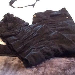 Dots Pants - Like new blacks crunchy straight leg pants.