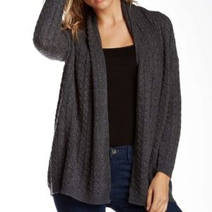 Joan Vass Cashmere Cable Knit Sweater Cardigan XS
