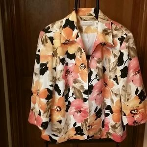 Alfred Dunner Jackets & Blazers - Alfred Dunner Floral Jacket