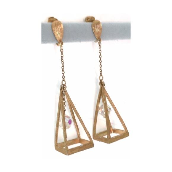 vintage vintage open triangle long dangle bead earrings from vintbijoux 39 s closet on poshmark. Black Bedroom Furniture Sets. Home Design Ideas