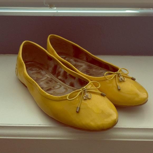 89796d2faf881f Sam Edelman Felicia yellow patent flats. M 551850ba4e8d17300f00d2f0