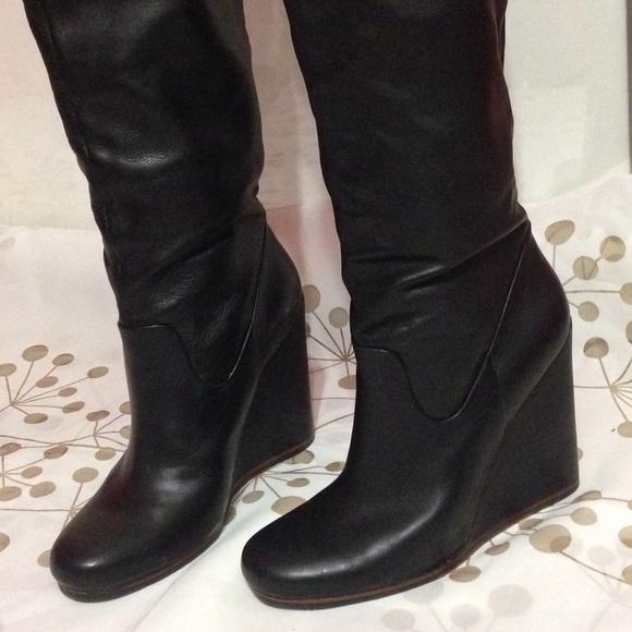 83 dolce vita boots dolce vita black leather wedge