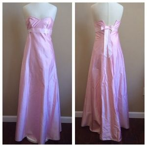 Stunning Shelli Segal Laundry Pink Silk Gown, Sz 2