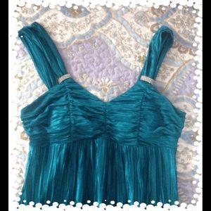 Teal Evening Dress