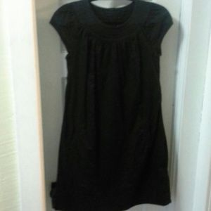 Cute black cotton shift dress