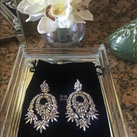 Bcbgmaxazria Gorgeous Crystal Chandelier Earrings
