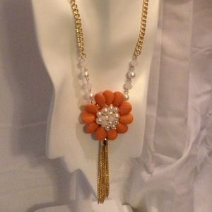 Jewelry - 🎉SOLD 🎉 Floral Tassel Necklace