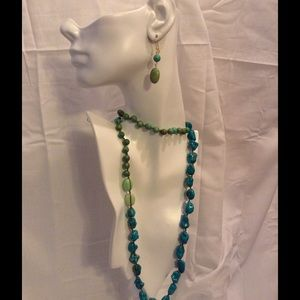 Jewelry - Faux Gem Long Necklace Set