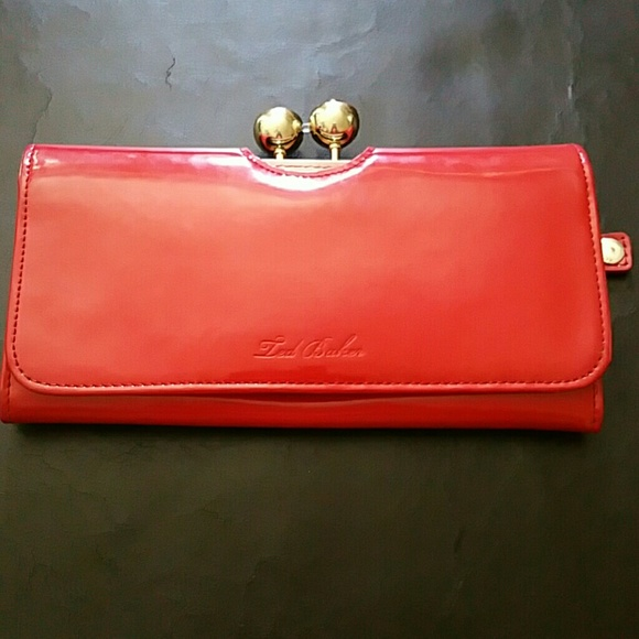 760554f5e Ted Baker Red Patent Leather Wallet
