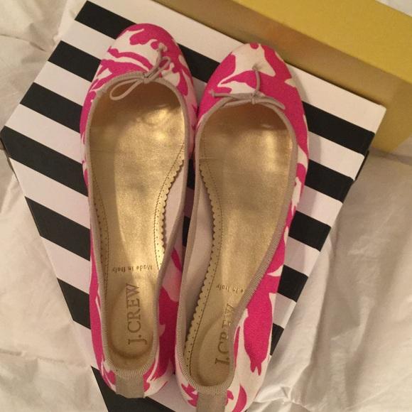 J Crew Fabric Ballet Flats Size 8 1/2