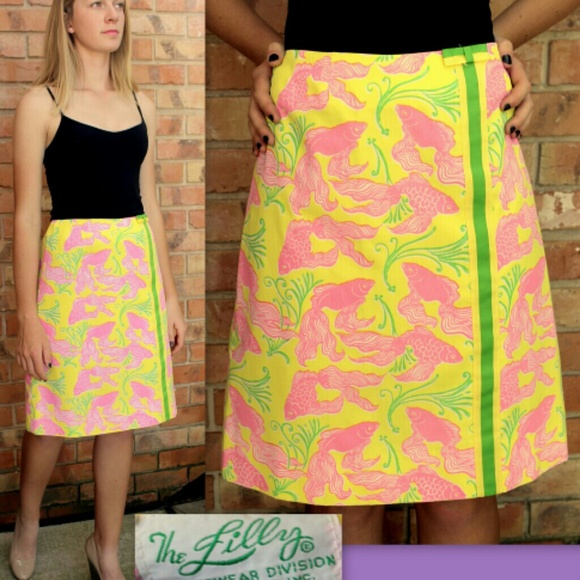 416a101af Lilly Pulitzer Dresses & Skirts - Vintage 70s LILLY PULITZER Ultimate  A-Line Skirt