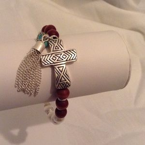Jewelry - 🎉SOLD 🎉 Cross Accent Bracelet