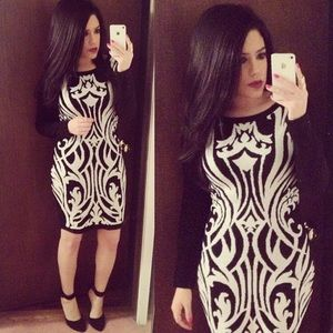 Dynamite Dresses & Skirts - Black & White Sweater Dress