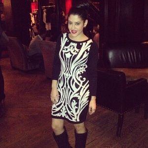 Dynamite Dresses - Black & White Sweater Dress