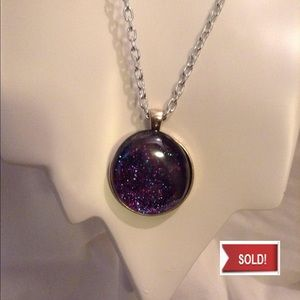 Jewelry - SOLD. Purple Sparkle Stone Necklace