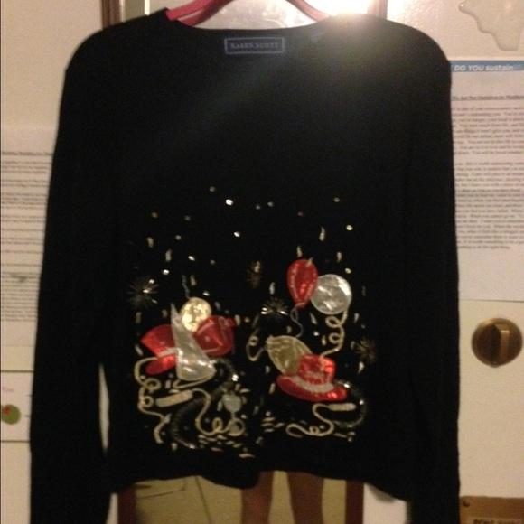 Karen Scott Sweaters Vintage New Years Eve Sweater Poshmark