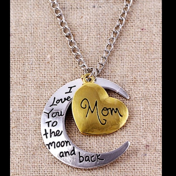 Jewelry i love you to the moon back mom necklace poshmark i love you to the moon back mom necklace mozeypictures Images