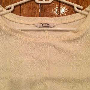 Three Dots Tops - Three Dots white knot tunic