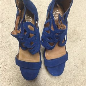 Auth Jeffery Campbell's suede Heel Less shoe