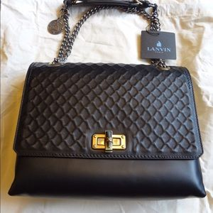 Lanvin Black Medium Happy Edgy Bag - NWT