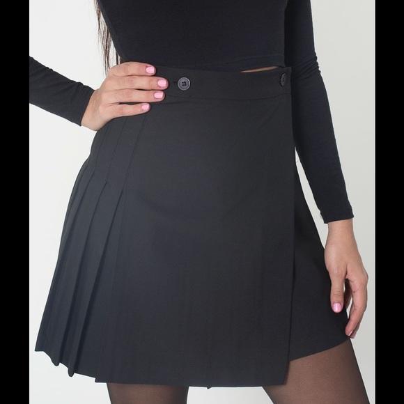american apparel black pleated schoolgirl skirt b0dd246972d5