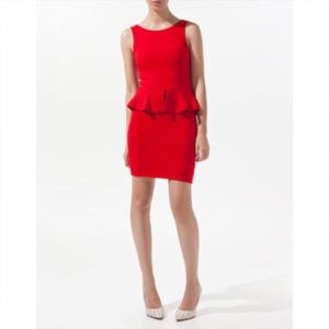 Zara Dresses & Skirts - Zara red peplum dress