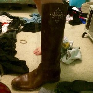 Tory burch riding boots!