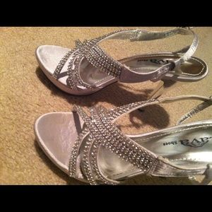 58 shoes silver rhinestone prom shoes size 7 5 from