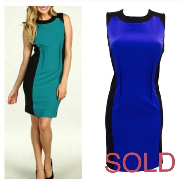 Calvin klein colorblock shift dress