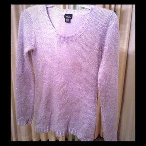 Rue 21 lilac glittery sweater.
