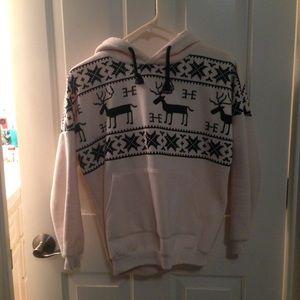 Outerwear - Sheinside.com Reindeer Hoodie