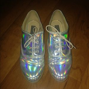 Hologram Oxford style shoe by Deena and Ozzy