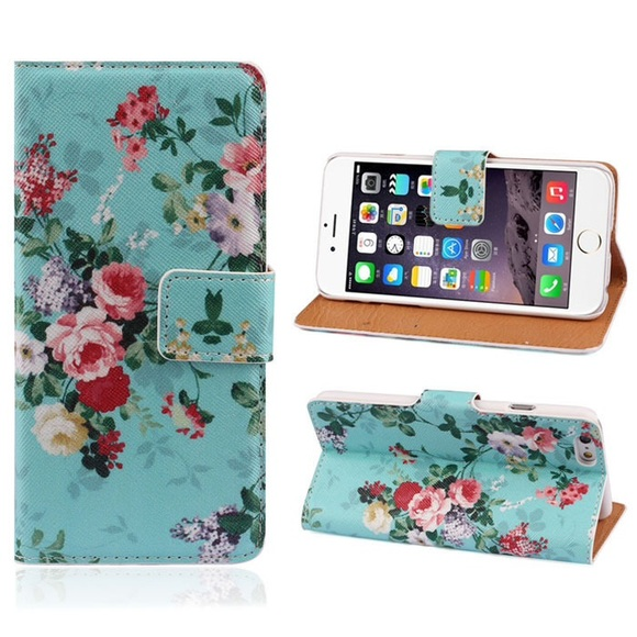 new styles 510fd 8dcae iPhone 6 Case Wallet Case Pu Leather Floral New NWT