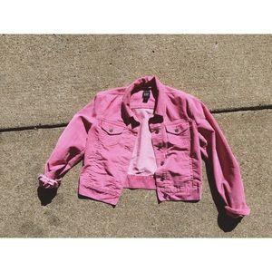 Vintage Gap Pink Corduroy Denim Jacket