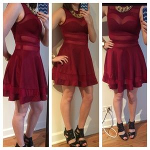 HOST PICK Maroon Party Dress 