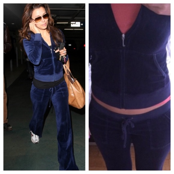 7feea209e695 Juicy Couture Other - Juicy couture navy Velour tracksuit small