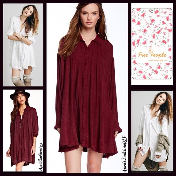 59dbf57a Free People Dresses | Button Down Tunic Shirt Dress | Poshmark