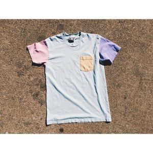 American Apparel Color Blocked Shirt