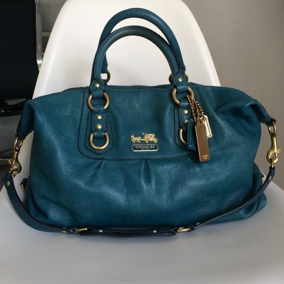 bc17fc70bf4 Coach Handbags - Coach - Madison Sabrina Handbag - Turquoise