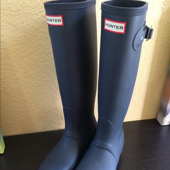 34% off Hunter Boots - Hunter Original Tall Boots in Matte Navy ...